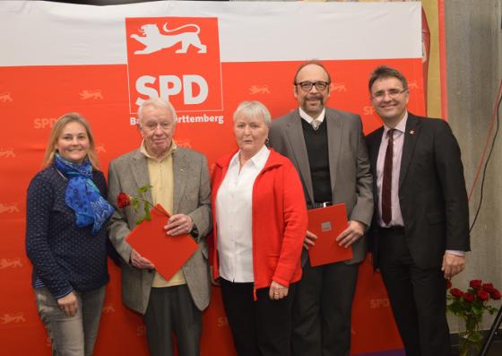 v.l.n.r.: Tatjana Sievers, Horst Herr, Gisela Fröde, Alexander Mehling u. Dr. Stefan Fulst-Blei
